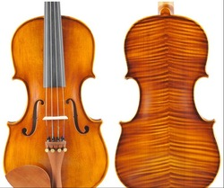 Free shipping hight quality 4/4 hand-crafted violin with case Rosin bow(China (Mainland))