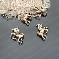 (19945)Free Shipping Wholesale Vintage Charms & Pendants  Alloy Antique Gold 24*17MM Unicorn 20PCS