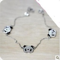 Min.order is $15 (mix order) 2012 New Women's Fashion Exquisite Lesser Panda Diamond Bangles Bracelet AQ0930
