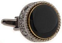 The onyx masonic cufflink vintage   design  cuff links for men  jewelry  V0002