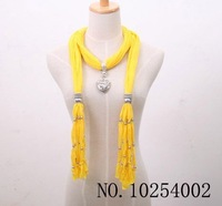 Free Shipping EMS 14 colors Solid Scarf Pendant Scarves Candy Design Scarf Jewelry Beads Decoration Mix  50Pieces.