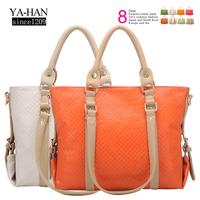 2012 women's handbag color block one shoulder bag cross-body handbag bag