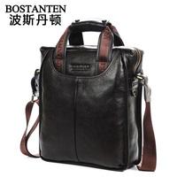 One shoulder casual cowhide genuine leather man bag commercial handbag messenger bag briefcase