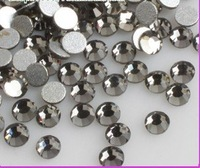 Free Shipping, SS12 (3--3.2mm)--High Shine 1440pcs 003 Blackdiamond Nail rhinestones high quality SS12-07