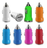 Mini USB Car Charger Adapter Universal for iPhone 4 4S 3G 3GS ipod mobile phone mp4 mp3 PDA 500pcs