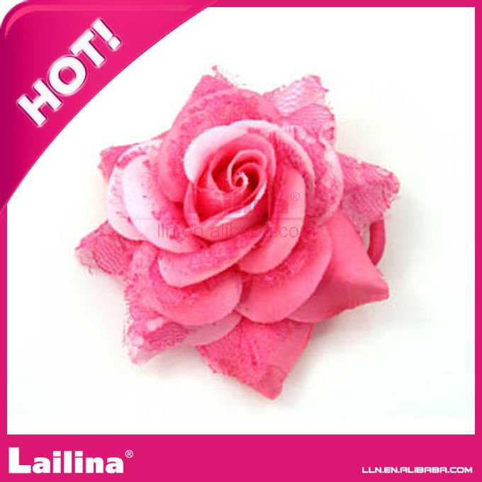 Fashion red flower brooch for clothing(China (Mainland))