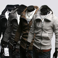 Free shipping!Men&#39;s fashion coat 2012 autumn trend slim long sleeve hoodies sweatshirt male top,Y017CN