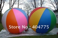 2m/6.7ft colorful inflatable beach ball for free shipping by express