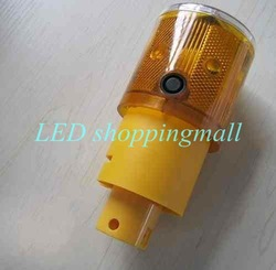 Free shipping,LED solar traffic warning light,signal beacon lamp Retailsale(China (Mainland))