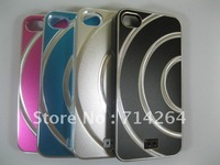 METAL+PC CASE FOR IPHONE4/IPHONE 4S DESIGN semi-circle