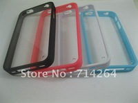 HIGH transparent PC(MIDDLE)+TPU(frame)  CASE FOR IPHONE4/IPHONE 4S