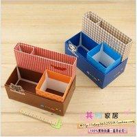 Cute cardboard pen holder animal shape desktop storage box student creative stationery cheap kids shool supplies + free shipping