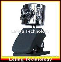 free shipping 10pcs/lot web camera, web cam, pc webcam, usb webcam, fast webcam, 6LED mic PC laptop Notebook 20M pixel wholesale