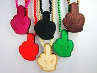 2012 New Arrival  Fashion Necklaces Hip-hop Painted Wooden NYC Rosary Necklaces for men Hand Pendant Mixed colors