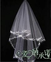 The bride hair accessory veil single tier line wedding accessories the wedding veil