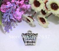 10PCS Tibetan Silver Flower Scarf Ring Bails A12664