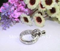 20PCS Tibetan Silver Circle Scarf Ring W/Bail A12621