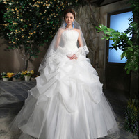 Free shipping 2013 bride wedding formal dress fashion princess tube top classic 1301