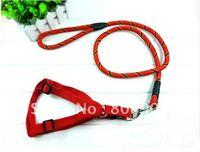 Adjustable Nylon Pulling Dog harness with round leash set 3 colorss/sizes