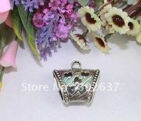 10PCS Tibetan Silver Heart Scarf Ring Bails A16438