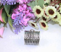10PCS Tibetan Silver Cut Out Cylinder Scarf Ring Bails A16852