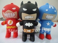 Full capacity 4g 8g 16g 32g Cartoon batman usb 2.0 flash  drive pen drive & Free ship