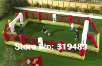 commercial quality PVC inflatable football pitch outdoor fun & sports for kids+free carry bag and CE/UL blower,repair kit