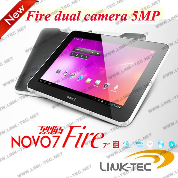 Ainol Fire Flame 7 inch tablet 1280*800 resolution dual camera 5MP back 2MP front android 4.0 16GB HDD(China (Mainland))