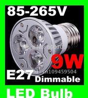 2014 ON SALES LOW price  9W 3*3W 85-265V E27/E14 Warm cool Pure White LED Light Lamp Bulb Spotlight CE ROSH