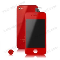 Verizon Conversion Kit for iPhone 4(LCD Assembly + Back Cover + Home Button) - Red 10Pieces/Lot DHL Free Shipping