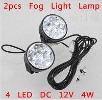 2pcs  4 LED DC 12V 4W Daytime Running Fog Light Lamp Driving Bulb Kit For Car Auto