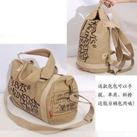 2012 one shoulder handbag cross-body multi-purpose bag thick canvas bag men and women general bag
