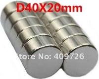 2pcs/lot ,N35 NdFeB D40MM X 20MM strong magnet lodestone permanent magnet, Free Shipping