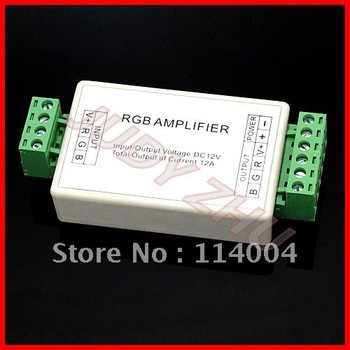 NEW 50x DC12V/24V 12A Mini LED RGB Signal Amplifier for SMD 3528 5050 LED Strip Light high quality, free shipping