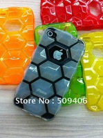 Free shipping Gel Jelly TPU cellphone skin cover cases for iphone 4g 4s