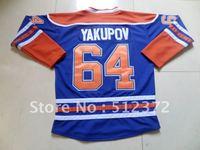 Free Shipping!!! Hockey jersey #64 Nail Yakupov blue jersey