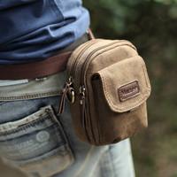 Handbag Mini  waist pack male multifunctional casual canvas  messenger  mobile phone  Bag Free Shipping