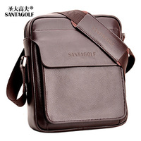 Handbag Discover golf genuine leather man  shoulder  male casual  leather  as047 Bag Free Shipping