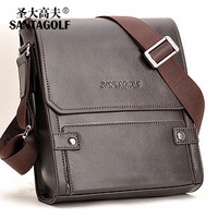 Handbag Discover golf man  fashion leather  male messenger  leather  as050 Bag Free Shipping