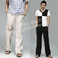 2012 thin loose linen casual pants fluid pants long trousers wide leg pants plus size