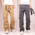 Summer thin trousers outdoor sports pants casual pants men's clothing loose plus size overalls male long trousers