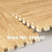 WM018 Baby Floor Mat Children's Environmental Tasteless Eva Foam wood vein style Mat, 9 pcs/pack