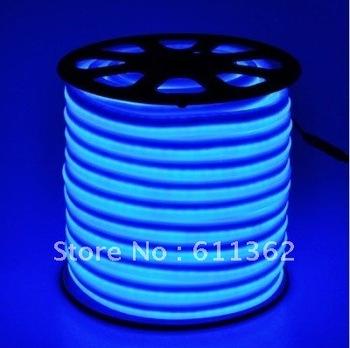 Free shipping by DHL , Blue led rope light ( 12VDC/ 24V/48DC or 110VAC/220VAC )  50 FEET LED NEON FLEX WHITE NEON