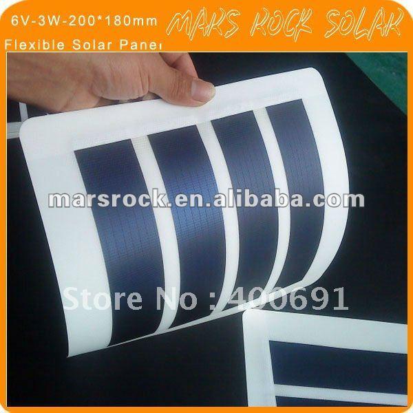 6V-3W-230*190mm Flexible Amorphous Silicon Solar PV Panel(China (Mainland))