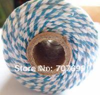 free shipping Double color 100% Cotton Bakers twine wholesale  5pcs/lot  blue colour