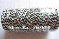 free shipping Double color 100% Cotton Bakers twine wholesale 5pcs/lot  black colour