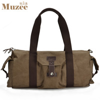 Free  shipping Canvas bag horizontal drum handbag casual travel bag luggage