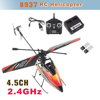 New 4CH Mini 2.4GHz Radio Single Propeller Outdoor RC Helicopter Gyro WLtoys V911 RTF