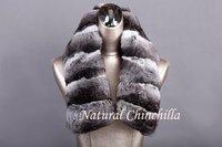 fashion Hand knitted beaver lady Chinchilla fur scarf~ FREE SHIPPING,90cm*15cm