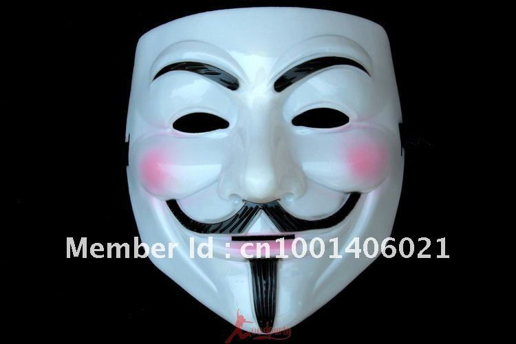 carnival Free Shipping /Hot V Vendetta Costume Cosplay Mask for Party/ Masquerade/ Halloween/(China (Mainland))